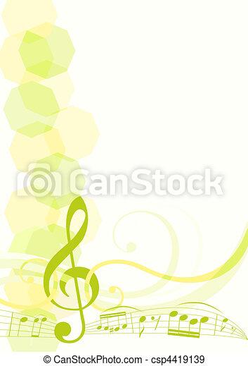 Tema musical - csp4419139
