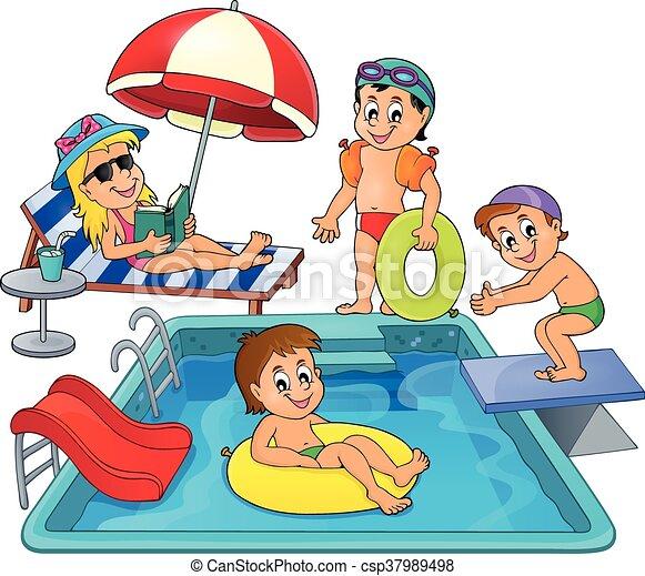 Tema ni os piscina for Dibujos para piscinas en gresite