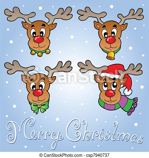Tarjeta de felicitación navideña 6 - csp7940737