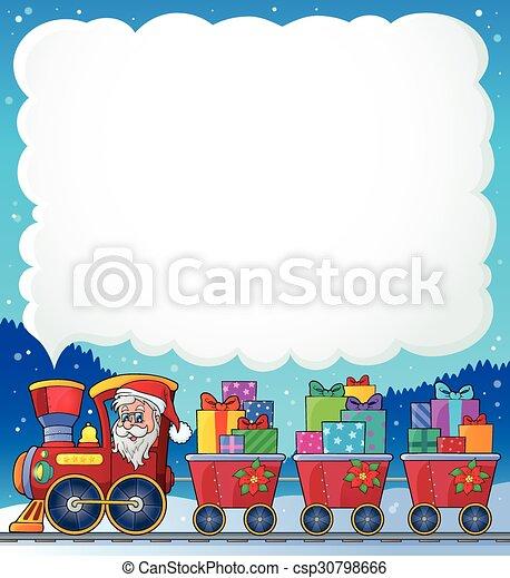 Tema del tren de Navidad 6 - csp30798666