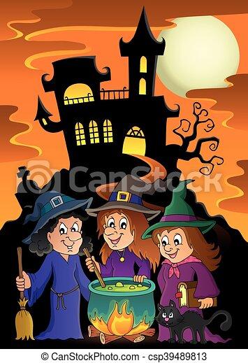 El tema de tres brujas - csp39489813