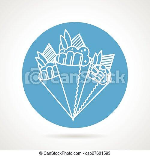 Temaki sushi blue vector icon - csp27601593