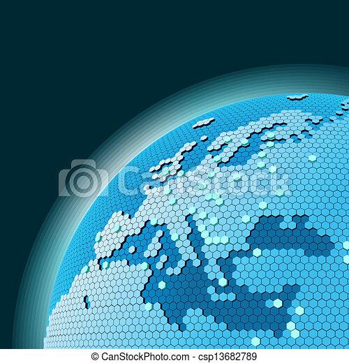temat, sieć, komórkowy - csp13682789