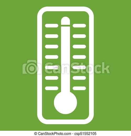 température, élevé, indique, vert, thermomètre, icône - csp51552105