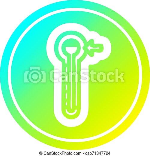 température, gradient, spectre, élevé, froid, circulaire - csp71347724