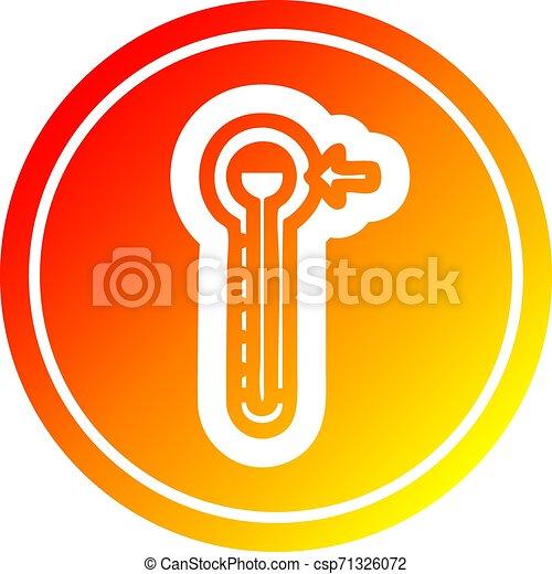 température, gradient, spectre, élevé, chaud, circulaire - csp71326072