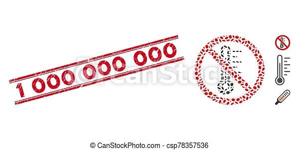 température, ligne, 1, collage, non, cachet, grunge, 000, icône - csp78357536