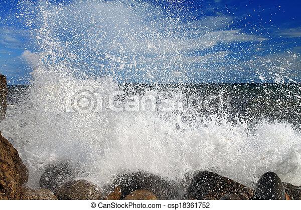 tempestuoso, ondas - csp18361752