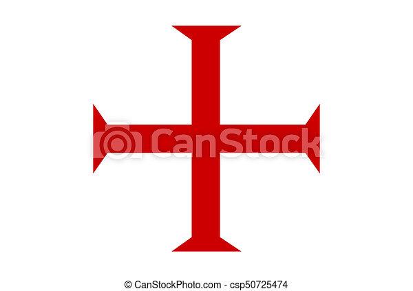 Templar Knights Cross Malta Order Templar Knights Red Cross Symbol