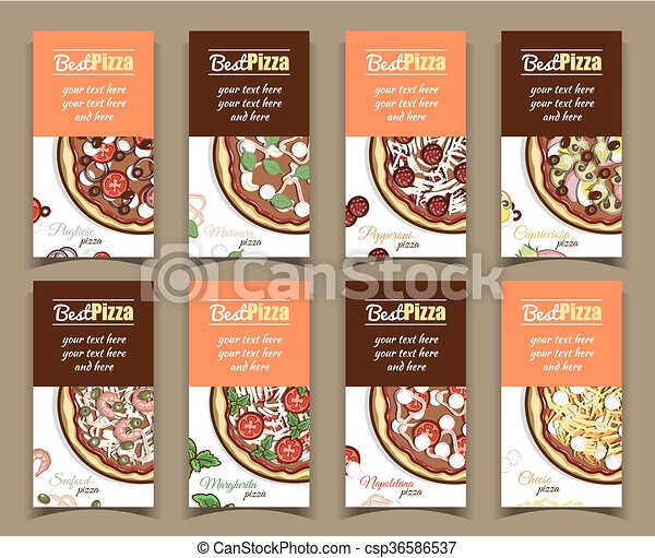 Template Banners With Pizza - csp36586537