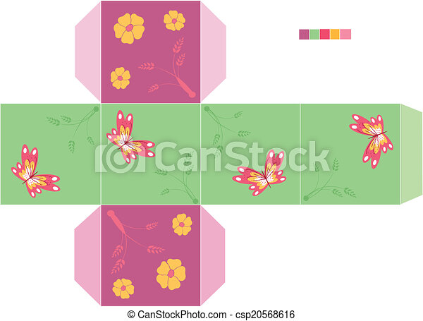 Template box candy, cookie . Is a eps 10 illustrator file vector ...