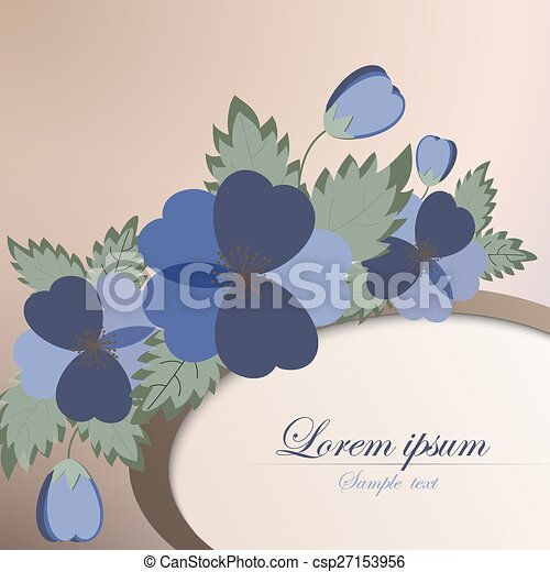 template card with spring flowers template card for greeting