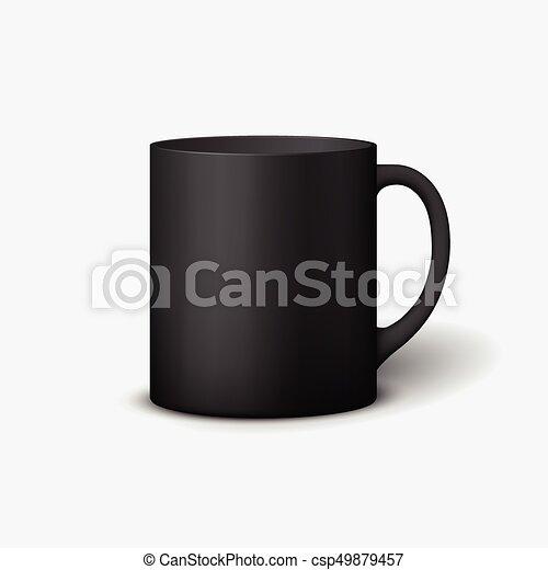 Template ceramic clean mug. Template ceramic clean black mug with a ...