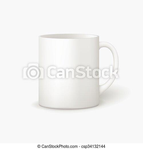 Template ceramic clean mug. Template ceramic clean white mug with a ...