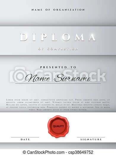 Template Certificate Design In Silver Color Award Certificate In A