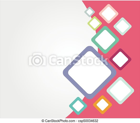 Template Colorful Rounded Rectangle Backgrounds With Copy Space For