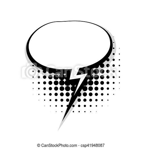 template comic speech oval lightning bubble blank template comic