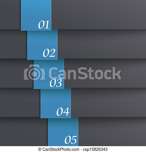Template Design 5 Options Black Blue PiAd - csp15826343