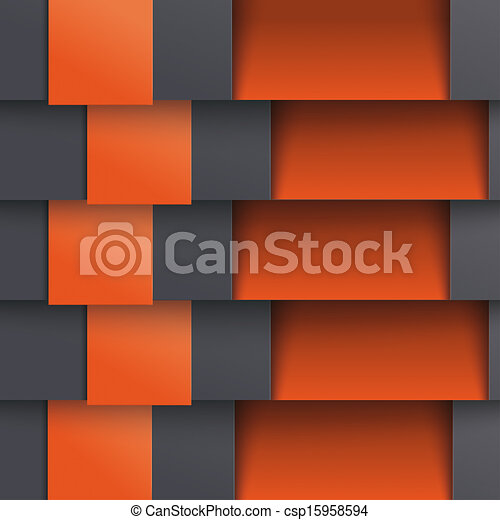 Template Design 5 Options Depth Black Double Orange PiAd - csp15958594