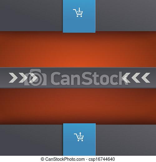 Template Design Black Centre PiAd - csp16744640