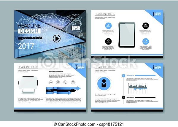 Template Design Brochure Annual Report Magazine Poster Corporate Presentation Portfolio Flyer Set With Copy Space