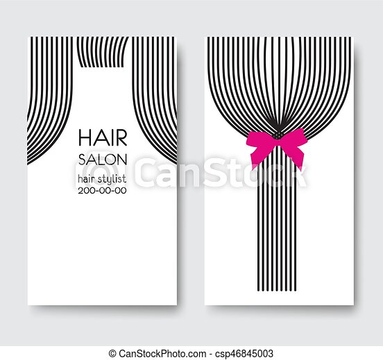 Template design business card with tail of long straight hair and template design business card with tail of long straight hair a csp46845003 colourmoves