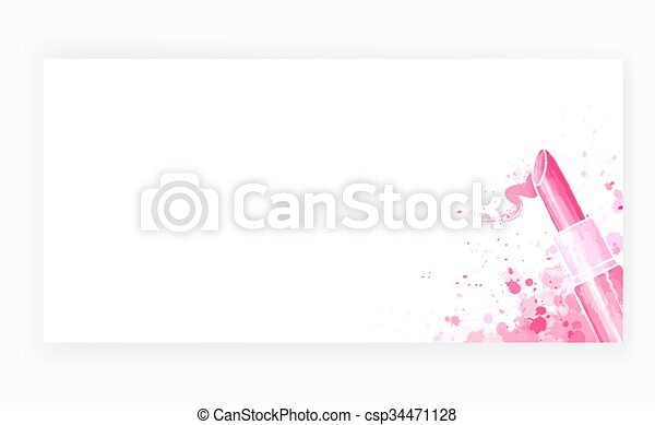 template design card background with lipstick template design card