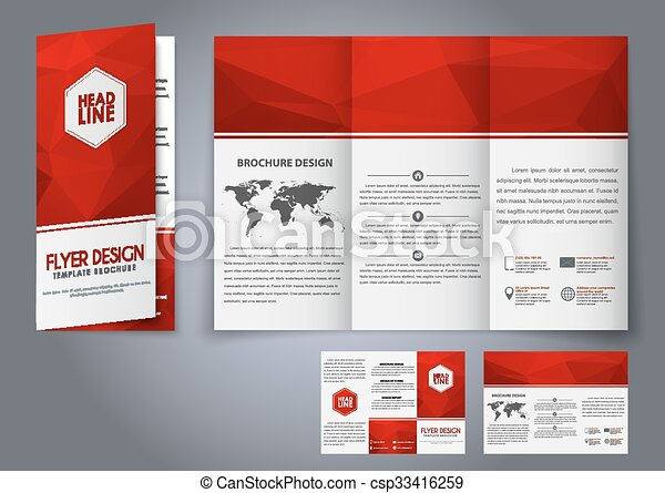 folded flyer template
