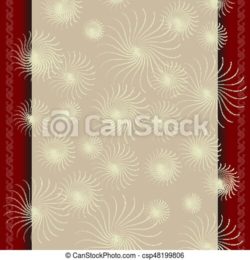 Template For A Certificate With Beige Red Border Frame Template For