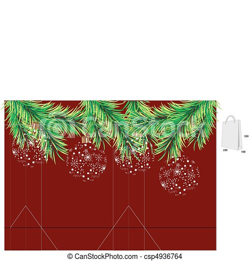 Template for christmas bag - csp4936764