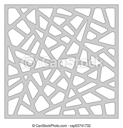 Template for cutting. abstract line pattern. laser cut. ratio 1:1 ...