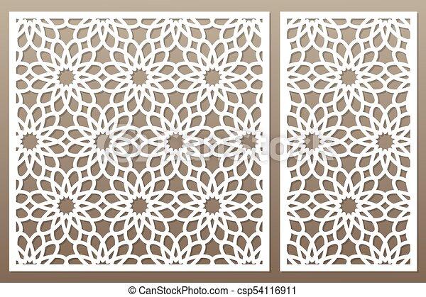 template for cutting geometric flower pattern laser cut set ratio