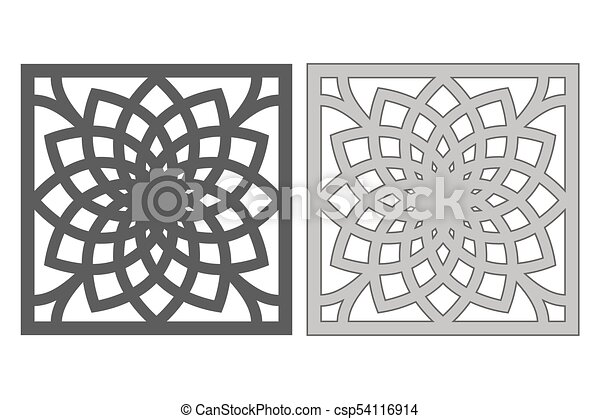 template for cutting geometric flower pattern laser cut ratio 1 1