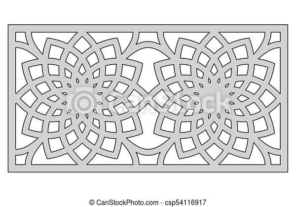template for cutting geometric flower pattern laser cut ratio 1 2
