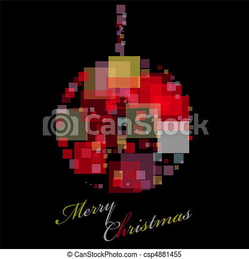 Template for decorative card - csp4881455