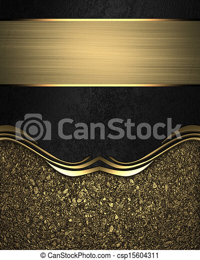 template for design black background with gold edge design template