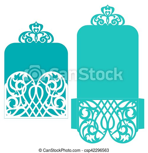 Template for greeting card - csp42296563