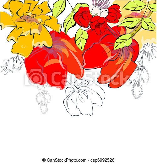 Template for greeting card - csp6992526