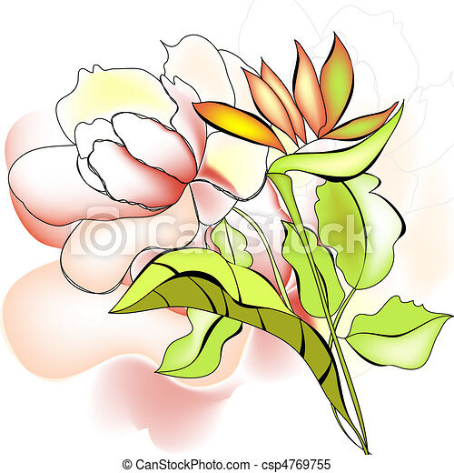 Template for greeting card - csp4769755