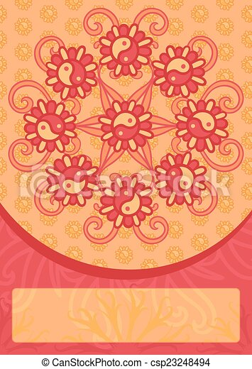 Template for greeting card - csp23248494