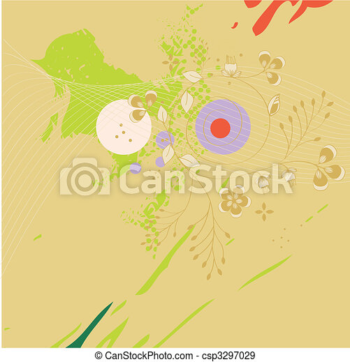 Template for greeting card - csp3297029
