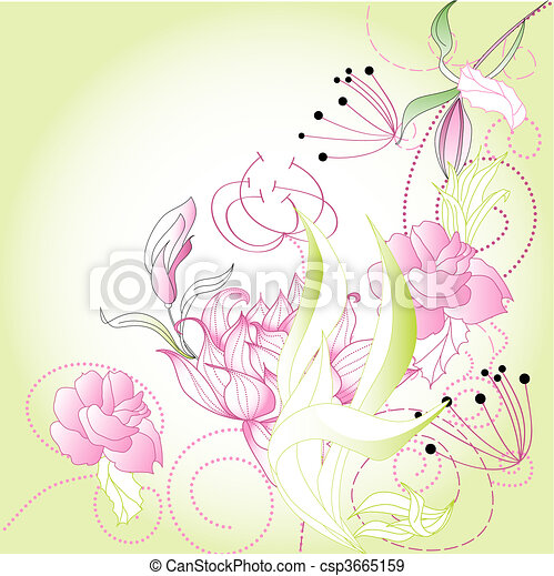 Template for greeting card - csp3665159