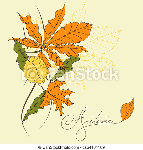 Template for greeting card - csp4104169