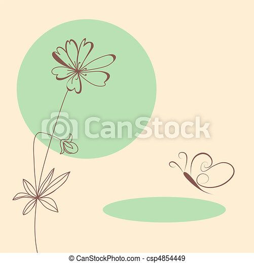 Template for greeting card - csp4854449