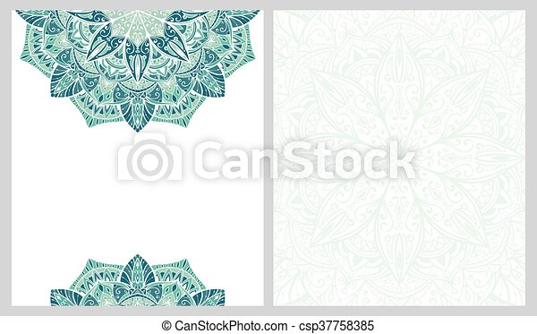 Template for greeting card. - csp37758385