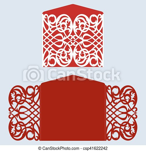 Template for greeting card - csp41622242