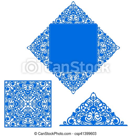 Template for greeting card - csp41399603