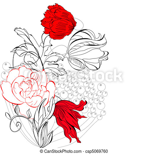Template for greeting card - csp5069760