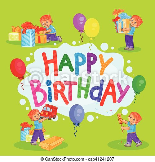Template For Happy Birthday Greeting Card