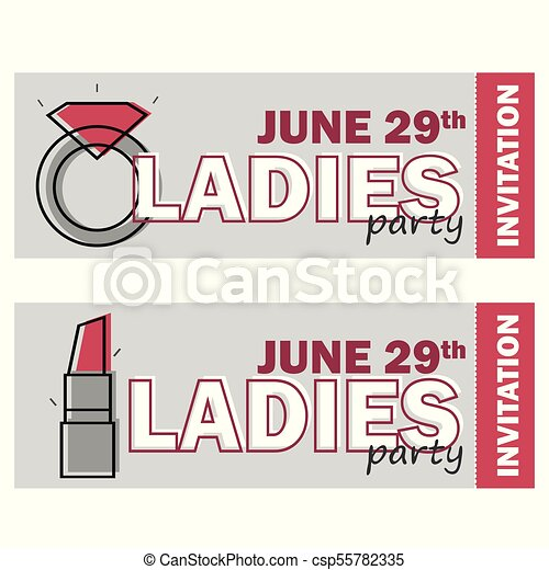Template for ladies night party flyer bachelorette party vectors template for ladies night party flyer bachelorette party invitation vector stopboris Images